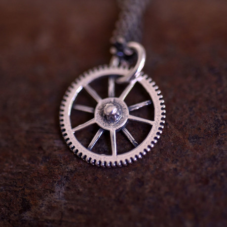 """GB Gear Necklace // Brushed (18"""")"""