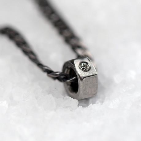 "Diamond Nuts Necklace // Polished (18"")"