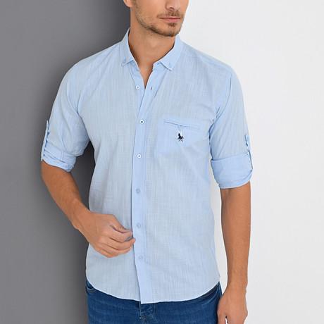 Chance Button-Up Shirt // Light Blue (Small)