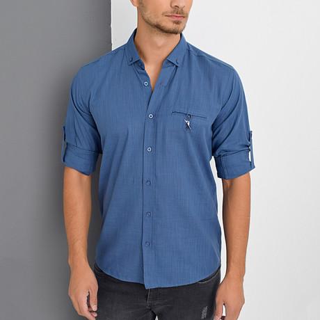 Chance Button-Up Shirt // Indigo (Small)