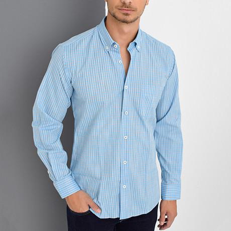 Vince Button-Up Shirt // Blue (Small)