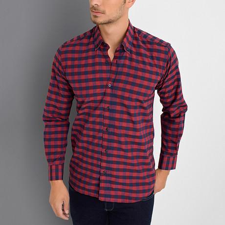 Boris Button-Up Shirt // Burgundy (Small)