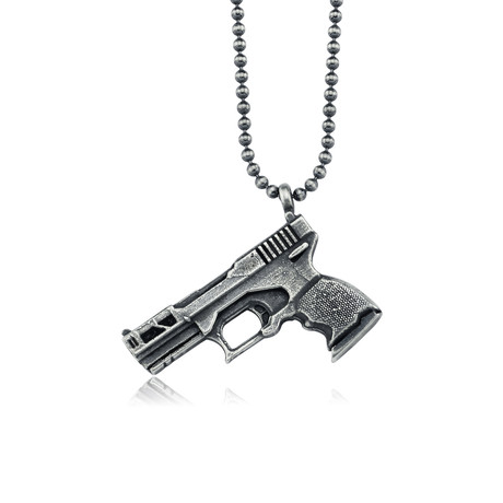 "Glock Design Necklace // Oxide (22"")"