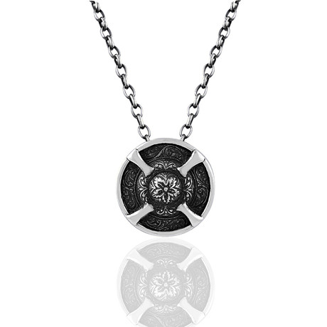 "Lindiskjöldr Shield Necklace // Black (22"")"
