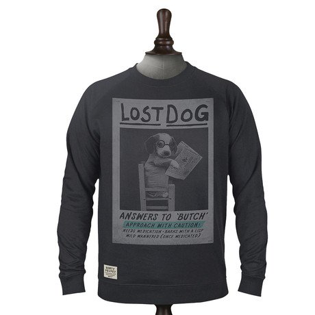 Lost Dog Pullover // Charcoal (XS)