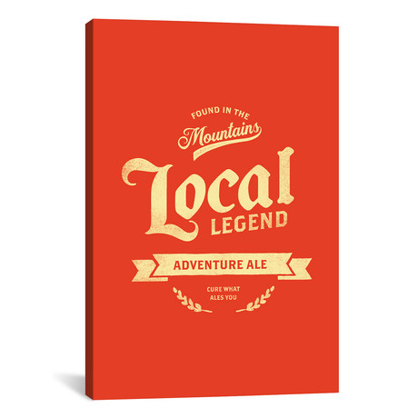 "Man Cave Adventure Ale Red (12""W x 18""H x 0.75""D)"