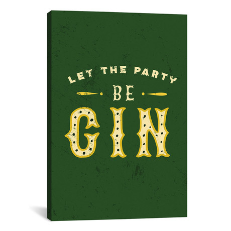 "Botanical Gin Party Begin Distressed (12""W x 18""H x 0.75""D)"