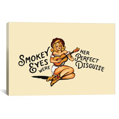 "Smokey Eyes Cowgirl (18""W x 12""H x 0.75""D)"