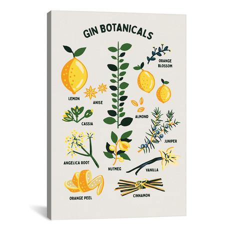 "Botanical Gin Chart (12""W x 18""H x 0.75""D)"