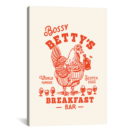 "Bossy Betty Breakfast Bar (12""W x 18""H x 0.75""D)"