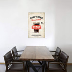 """Craft Beer Stout Vintage Sign (12""""W x 18""""H x 0.75""""D)"""