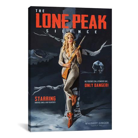 """Apres Ski Lone Peak Winter (12""""W x 18""""H x 0.75""""D)"""