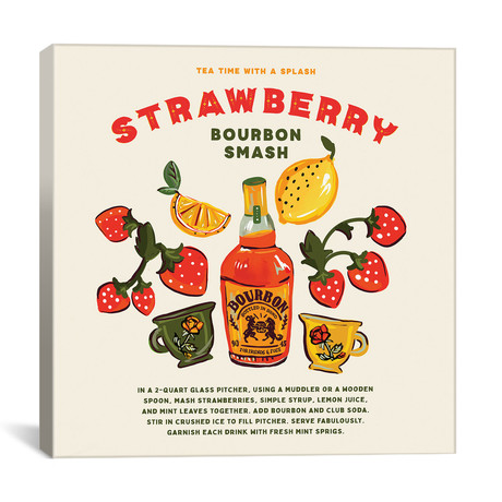 "Strawberry Bourbon Recipe (12""W x 12""H x 0.75""D)"