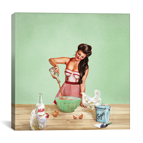 "Bourbon Chickens Pinup Tray (12""W x 12""H x 0.75""D)"