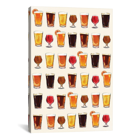 "Craft Beer Pattern (12""W x 18""H x 0.75""D)"