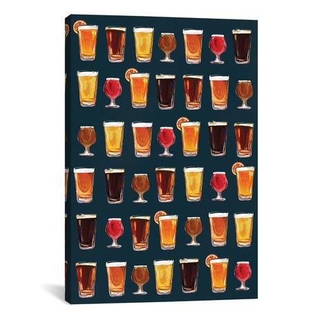 """Craft Beer Pattern Dark (12""""W x 18""""H x 0.75""""D)"""