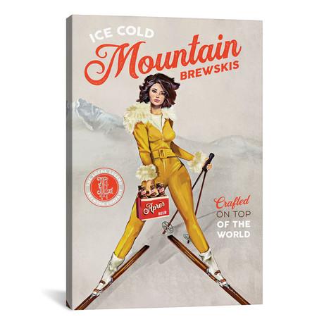 "Apres Ski Mountain Brewski (12""W x 18""H x 0.75""D)"