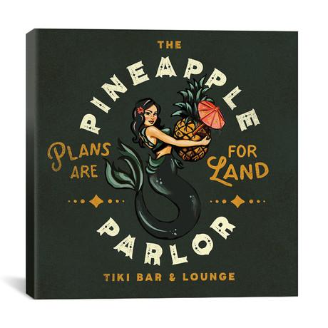 "Pineapple Parlor Dark (12""W x 12""H x 0.75""D)"