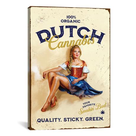"""Dutch Cannabis (12""""W x 18""""H x 0.75""""D)"""