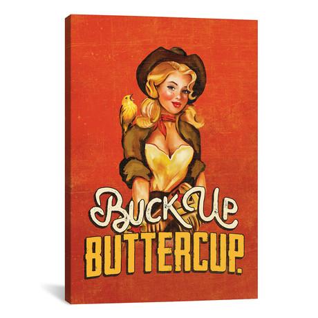 """Buck Up Buttercup Ruby (12""""W x 18""""H x 0.75""""D)"""