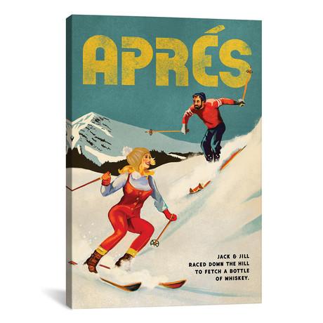 "Apres Ski Jack And Jill Whiskey (12""W x 18""H x 0.75""D)"