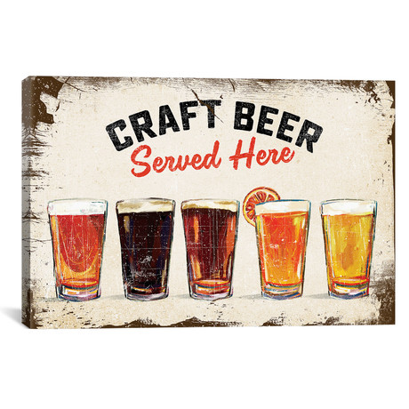 "Craft Beer Lineup Vintage Sign (18""W x 12""H x 0.75""D)"