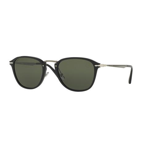 Calligrapher Polarized Sunglasses // Black + Green