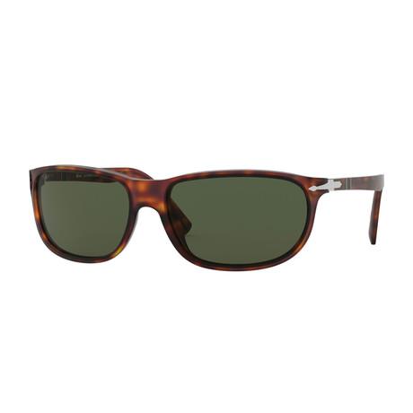 Oval Wrap Sunglasses // Havana + Green
