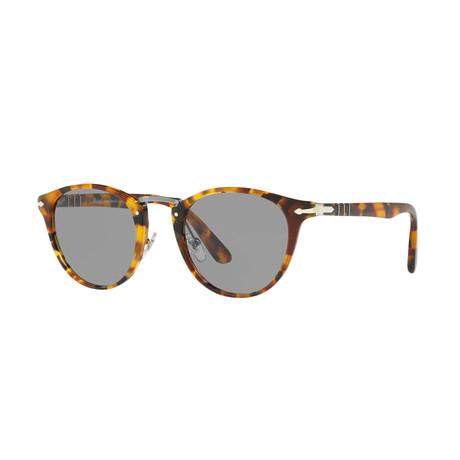 Men's Round Typewriter Edition Sunglasses // Madreterra + Gray