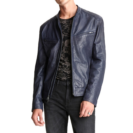 Starman Leather Racer Jacket // Midnight (XS)