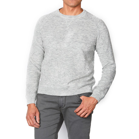 Lexington Long Sleeve Melange French Terry Sweatshirt // Light Gray Heather (XS)