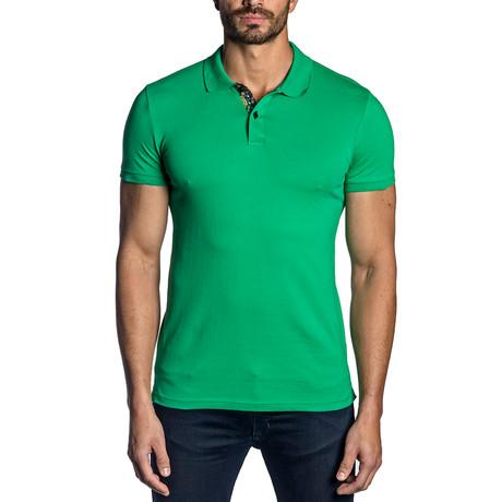 Evan Knit Polo // Green (S)