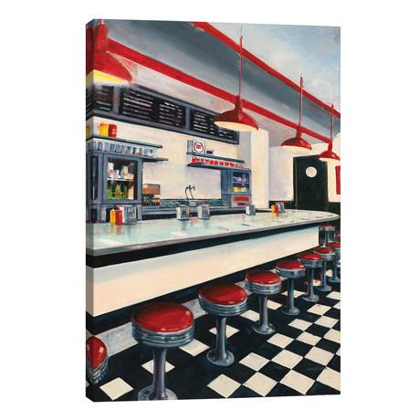 """Diner // Joseph Cates (12""""W x 18""""H x 0.75""""D)"""