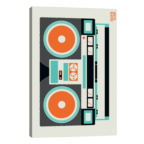 "Icons - Ghetto Blaster // Bo Lundberg (12""W x 18""H x 0.75""D)"