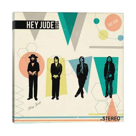 "Hey Jude In Stereo, 1968 // Radio Days (12""W x 12""H x 0.75""D)"