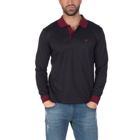 Niels Long Sleeve Polo Shirt // Navy (S)