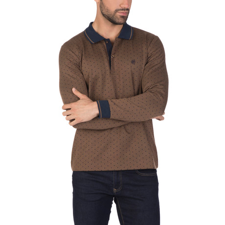 Hans Long Sleeve Polo Shirt // Light Brown (XS)