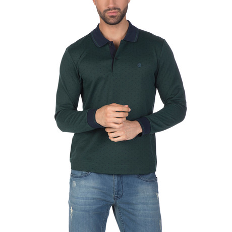 Holger Long Sleeve Polo Shirt // Green (XS)