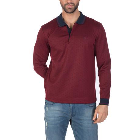 Jesper Long Sleeve Polo Shirt // Bordeaux (XS)