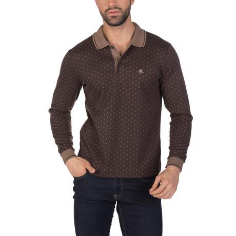 Addison Long Sleeve Polo Shirt // Brown (S)