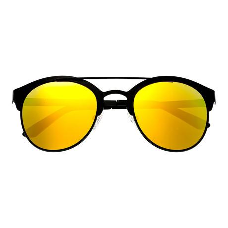 Phoenix Polarized Sunglasses // Titanium (Blue Frame + Silver Lens)