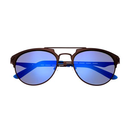 Breed // Hercules Polarized Sunglasses (Silver Frame + Purple Lens)