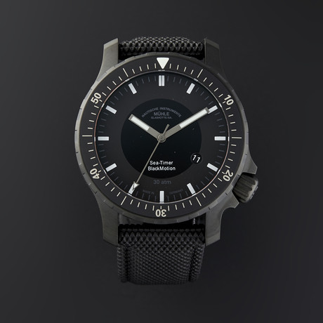 Mühle-Glashütte Sea-Timer BlackMotion Automatic // M1-41-83-NB // Store Display