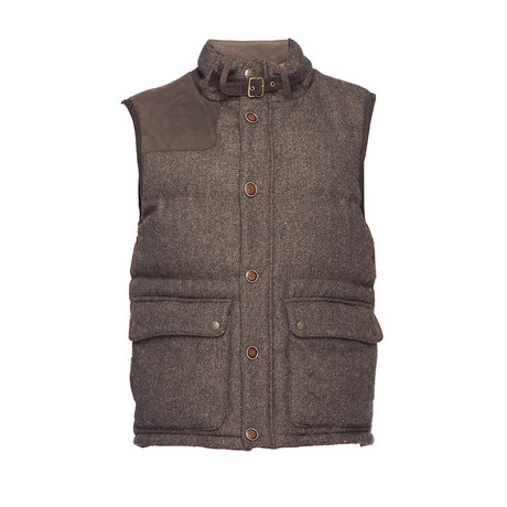 Quilted Vest // Brown (XS)