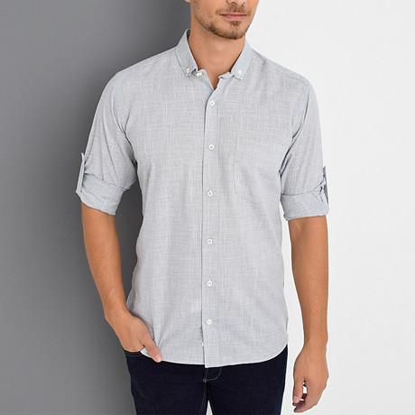 Timothy Button-Up Shirt // Dark Blue (Small)