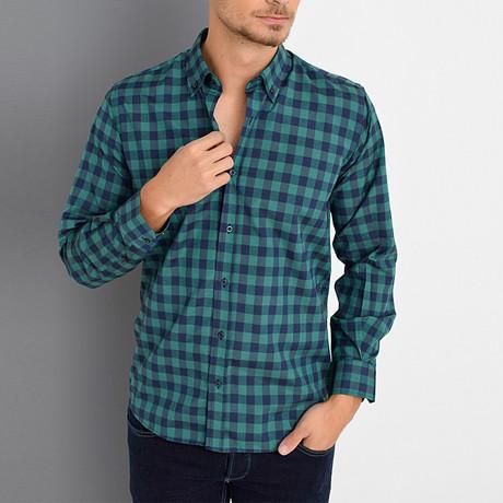 Boris Button-Up Shirt // Green (Small)