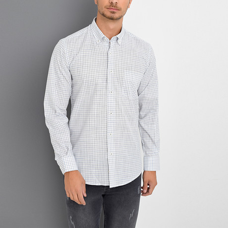Vince Button-Up Shirt // White (Small)