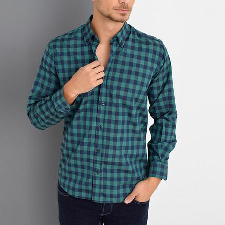 Boris Button-Up Shirt // Khaki (Small)