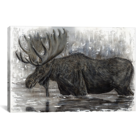 "Grand Majestic Moose (18""W x 12""H x 0.75""D)"