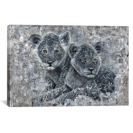 "Power Of The Pride Lion Cubs (18""W x 12""H x 0.75""D)"